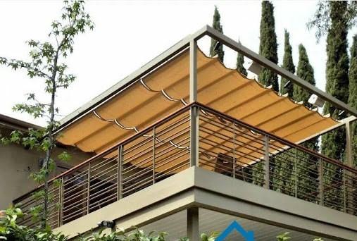 Mái che xếp ban công - sân thượng