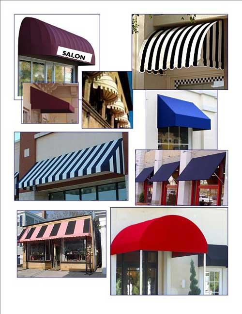 Các mẫu mái che cửa sổ phổ biến