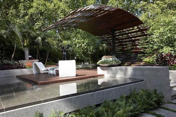 Mái vòm sân vườn