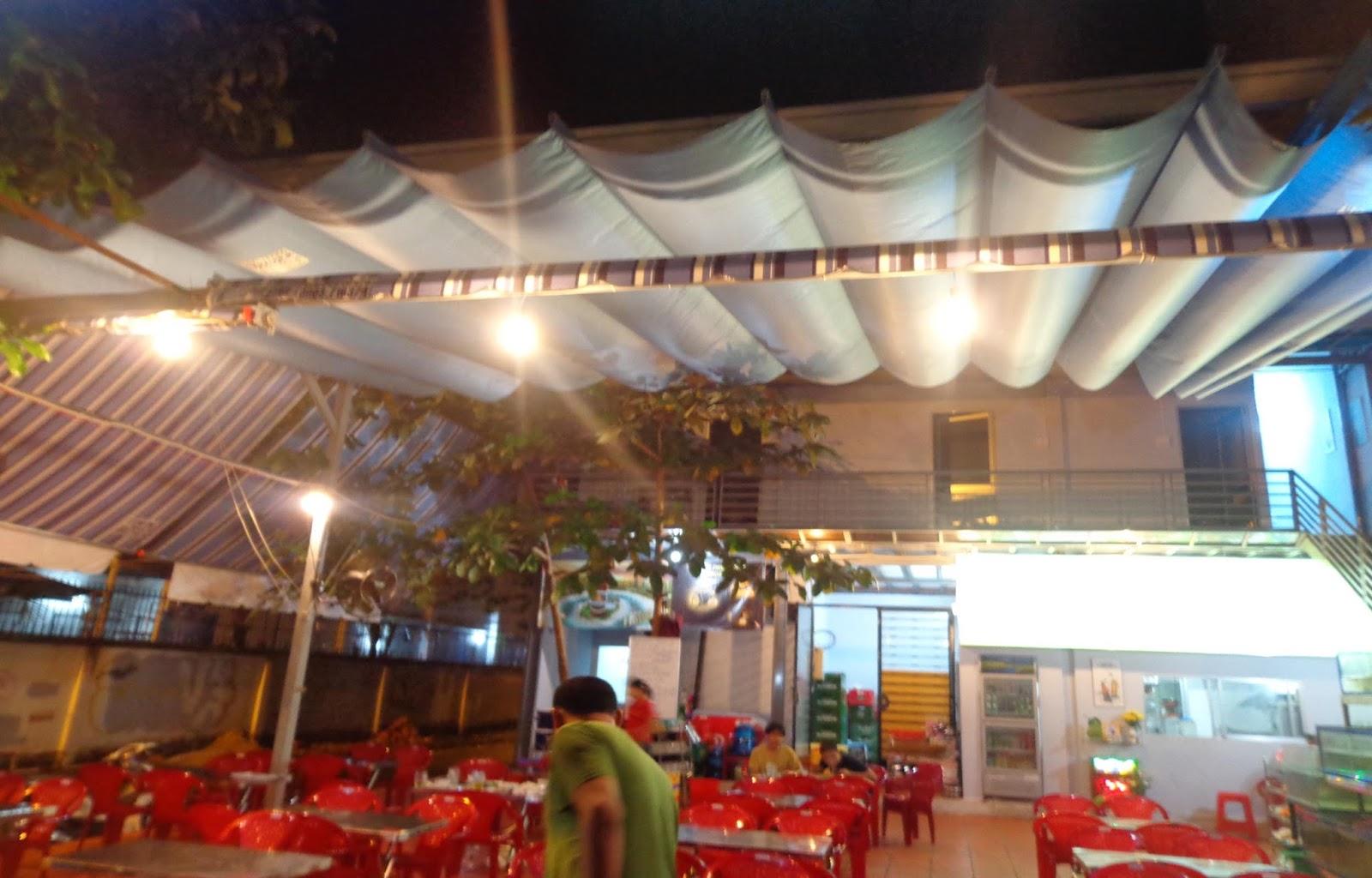 Mái xếp quán ăn, nhà hàng