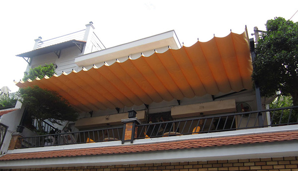 Mái xếp sân thượng di động đẹp