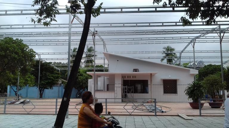 Công trình mái che di động cho quán dê tươi Vĩnh Lộc 5