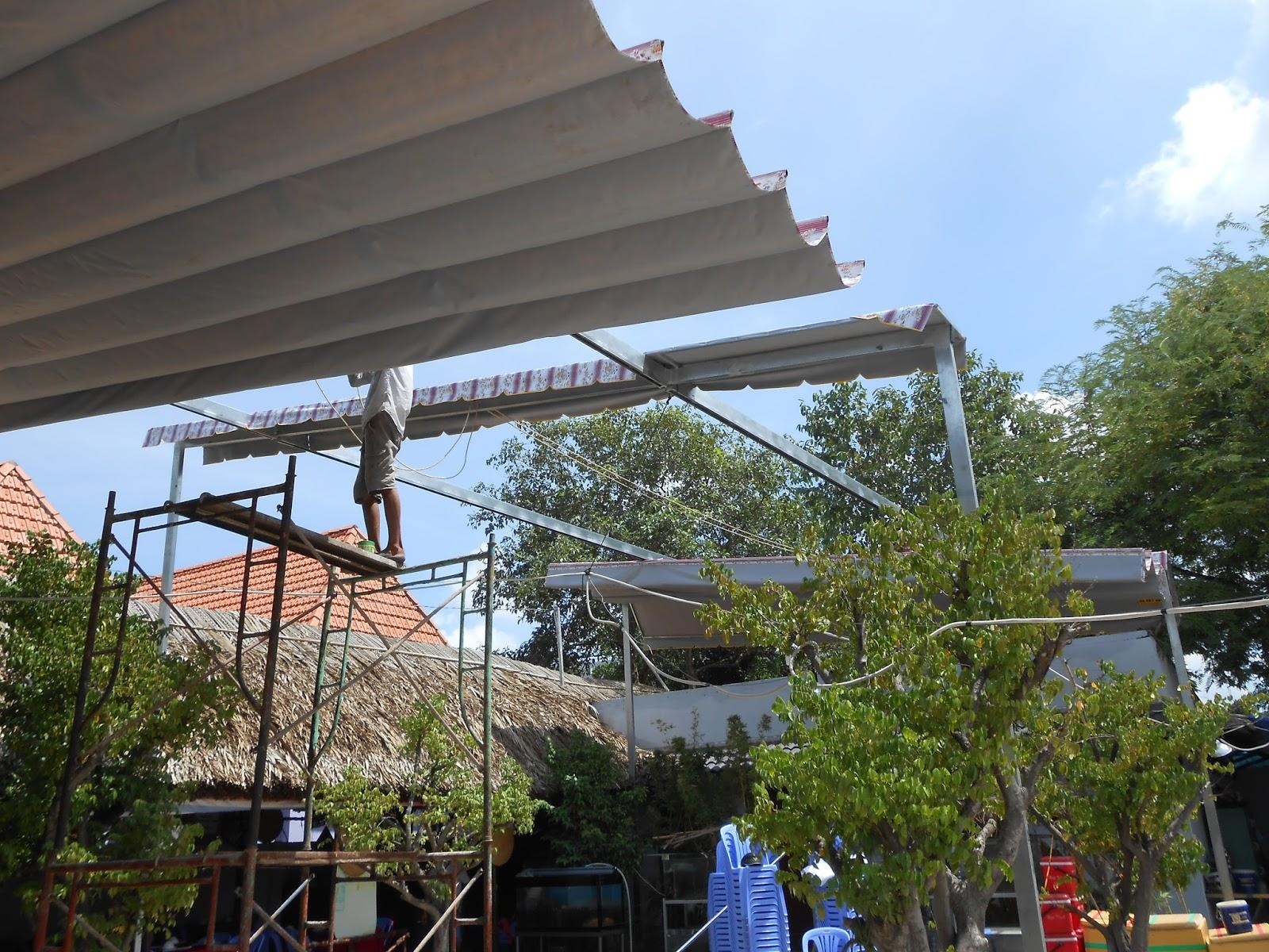 Mái xếp sân nhà khu nghỉ dưỡng