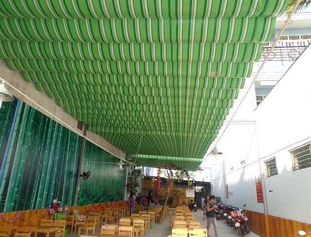Mái xếp di động cho nhà hàng lớn