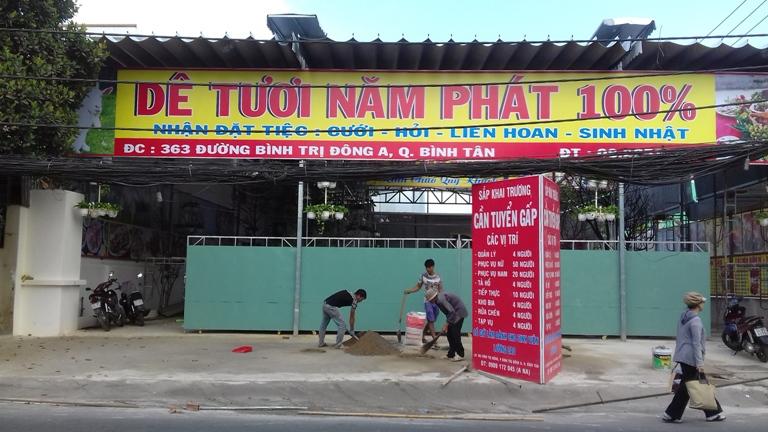 Mái xếp dê tươi Năm Phát - Quận Bình Tân