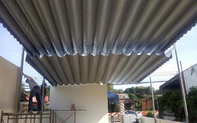 Hướng dẫn cách làm mái bạt xếp lượn sóng di động chi tiết